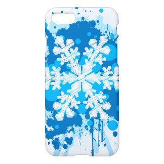 Splattered Paint Christmas Snowflake Design iPhone 7 Case