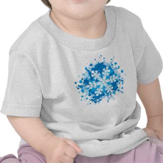 Splattered Paint Christmas Snowflake Design T Shirts