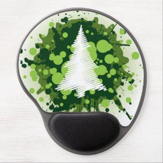 Splattered Paint Christmas Tree Design Gel Mouse Mats