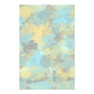 Splattered paint wallpaper customized stationery