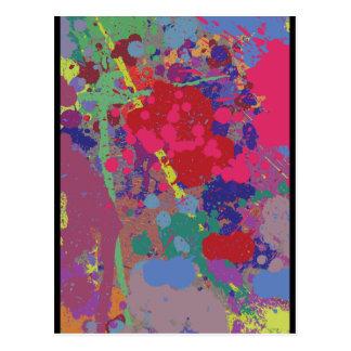 Splattered Postcards