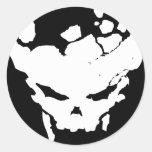 Splattered Skull Sticker