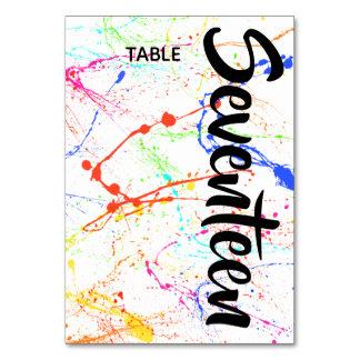 Splattered Table Number
