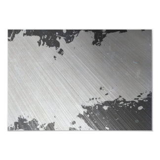 Splattered Urban Brushed Steel 9 Cm X 13 Cm Invitation Card