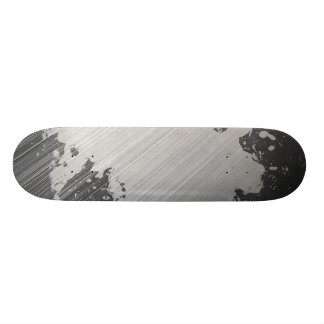 Splattered Urban Brushed Steel Skate Decks
