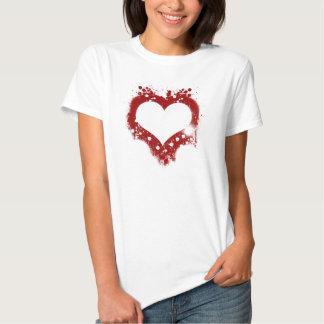 splatterheart t shirt