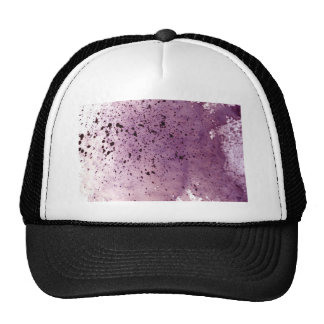 splattering red-gray trucker hat