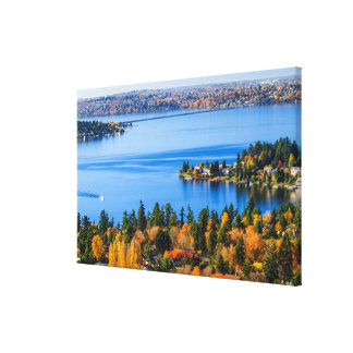 Splendid colors of fall at Bellevue Canvas Print