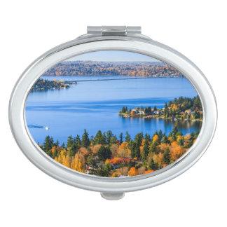 Splendid colors of fall at Bellevue Vanity Mirror