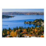 Splendid colours of fall at Bellevue Poster