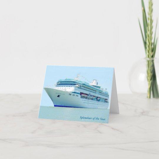 Splendid Cruise Ship Custom Note Card
