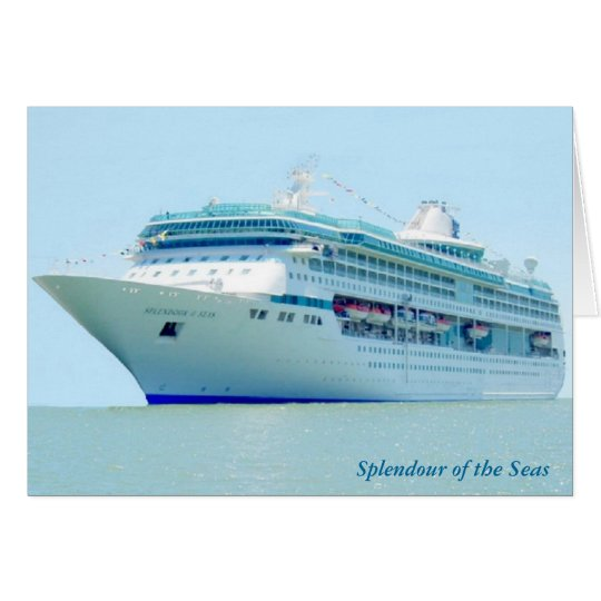 Splendid Cruise Ship Custom Note Card