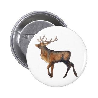 Splendid stag 6 cm round badge
