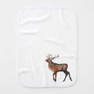 Splendid stag burp cloth