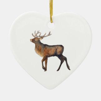 Splendid stag christmas ornament