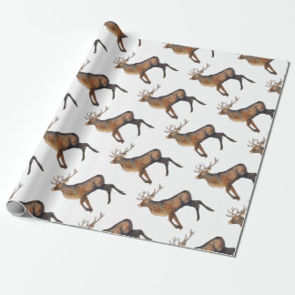 Splendid stag wrapping paper