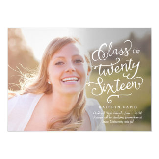 Splendid Statement Graduation Announcement - White
