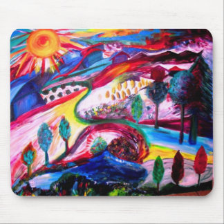 """Splendor in JERUSALEM"" by Michelle Katz, 2006 Mouse Mat"