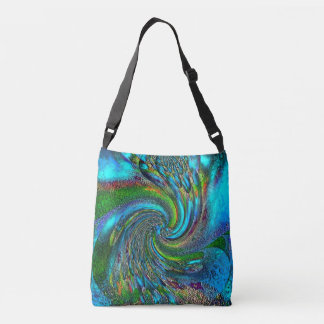 """Splish Splash"" All-Over- Print Cross Body Tote"