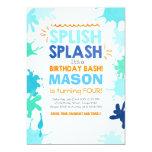 Splish Splash birthday invitation Boy