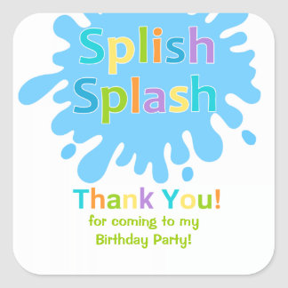 Splish Splash Pool Party Boy Birthday Sticker