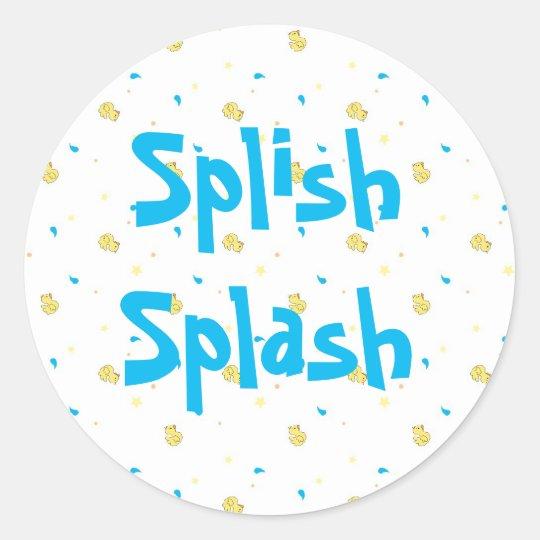 Splish Splash Sticker