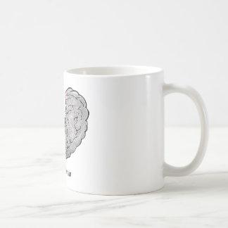 Split Brain Basic White Mug