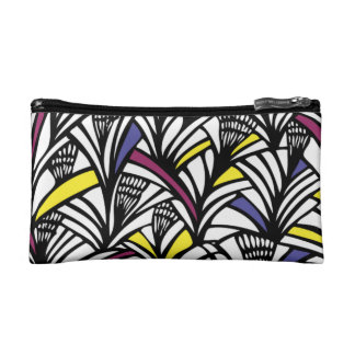 Split Complementary Abstract Pattern Cosmetic Bag