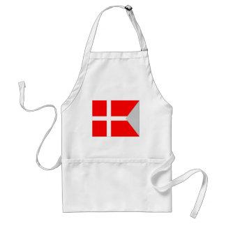 Split Denmark Flag Standard Apron