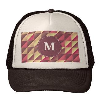 Split gradient squares trucker hat
