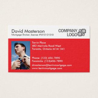Split Minimalist Professional - Red Business Card