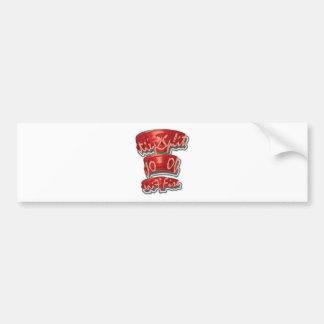 Split Of Fire 3D 3DD Half Round Bumper Sticker