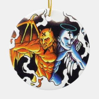 Split personalities christmas ornament