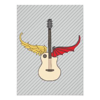 Split Personality Guitar 14 Cm X 19 Cm Invitation Card