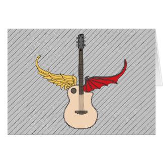 Split Personality Guitar Greeting Card