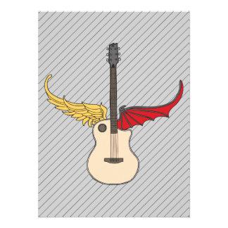 Split Personality Guitar Personalized Invites