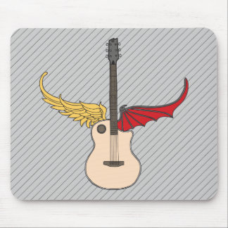 Split Personality Guitar Mouse Pad
