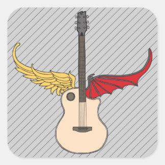 Split Personality Guitar Square Sticker