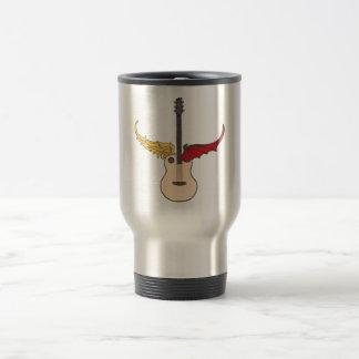 Split Personality Guitar Stainless Steel Travel Mug