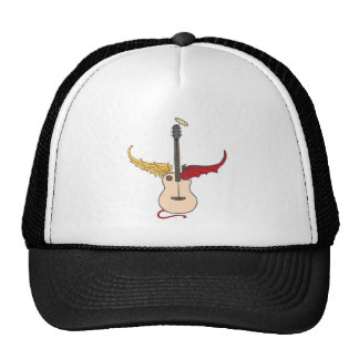 Split Personality Guitar (w/ tail halo) Trucker Hats