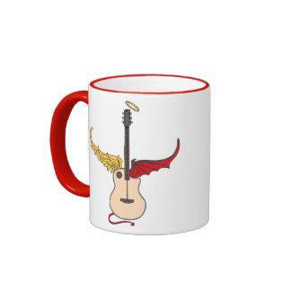 Split Personality Guitar (w/ tail halo) Coffee Mug