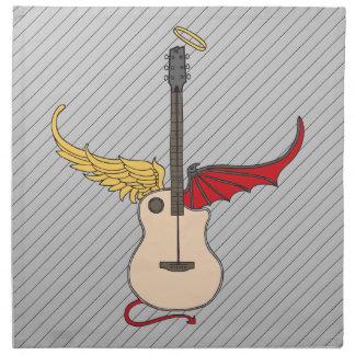 Split Personality Guitar (w/ tail halo) Printed Napkin