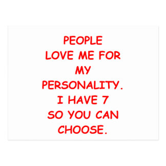 split personality postcard