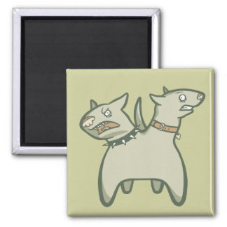 Split Personality Square Magnet