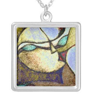 Split Personality Square Pendant Necklace