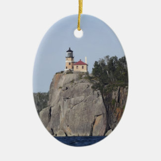 split rock light house christmas ornament