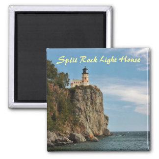 Split Rock Light House Square Magnet