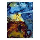 Split Rock Lighthouse At Night Card