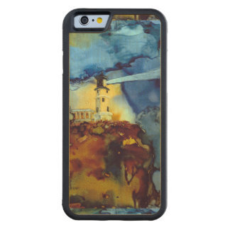 Split Rock Lighthouse At Night Carved Maple iPhone 6 Bumper Case