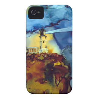 Split Rock Lighthouse At Night iPhone 4 Cases